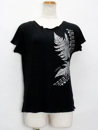 Lahaina ノースリーブストレッチTシャツ ラウアエ ブラック