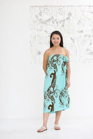 PUKANA 3wayイージーパレオスカート オールリーフピンク