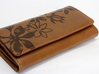 Aloha Wave(アロハウェーブ)長財布かぶせタイプ モカブラウン