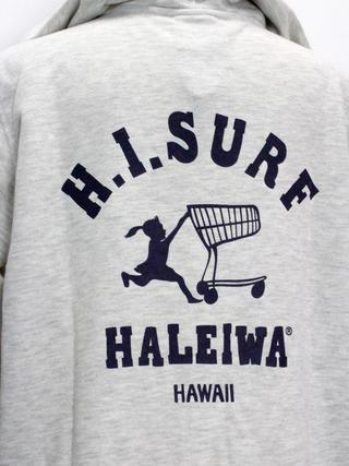 ハレイワ公式(HALEIWA HAPPY MARKET)スウェットパーカー プッシュカートガール グレー