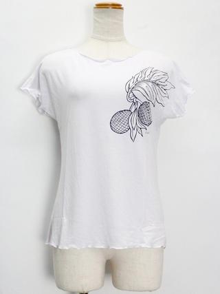 Lahaina ノースリーブストレッチTシャツ ブレッドフルーツ ホワイト