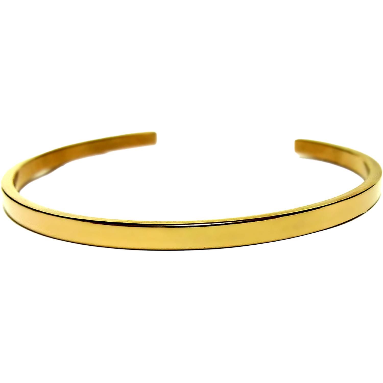 ハワイアンバングル ノンアレルギーサージカルステンレス シンプルデザイン ゴールド