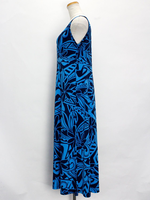 Lahaina カシュクールAラインドレスワンピース ティアレタパ ブルー