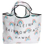 ハレイワ公式(HALEIWA)レジ買い物用カゴバッグ ホワイト