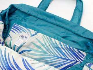 フララニ(Hula Lani)Lサイズトートバッグ ラウアエリーフ ベージュホワイト