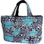 フララニ(Hula Lani)Lサイズトートバッグ タパリーフブルーネイビー