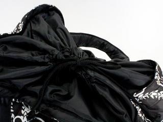 フララニ(Hula Lani)Lサイズトートバッグ ホヌレイリーフ ブラック