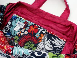 フララニ(Hula Lani)Lサイズトートバッグ ハワイアンパッチワーク ピンク