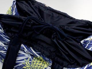 フララニ(Hula Lani)Lサイズトートバッグ パインリーフ ネイビー