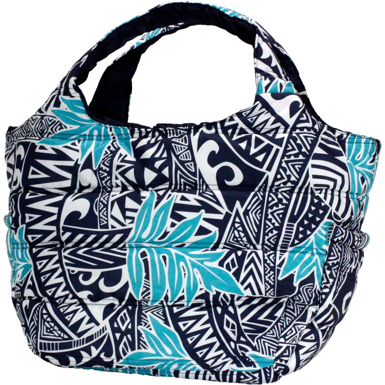 フララニ(Hula Lani)Mサイズトートバッグ タパリーフブルーネイビー