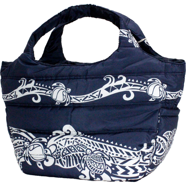 フララニ(Hula Lani)Mサイズトートバッグ タパホヌボーダー ネイビー