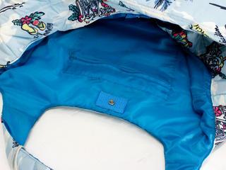 フララニ(Hula Lani)Mサイズトートバッグ アロハプリント ライトブルー