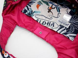フララニ(Hula Lani)Mサイズトートバッグ ハワイアンパッチワーク ピンク