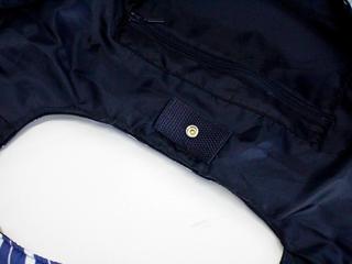 フララニ(Hula Lani)Mサイズトートバッグ パインリーフ ネイビー