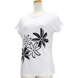 Lahaina ノースリーブストレッチTシャツ ビッグティアレ ブラックホワイト