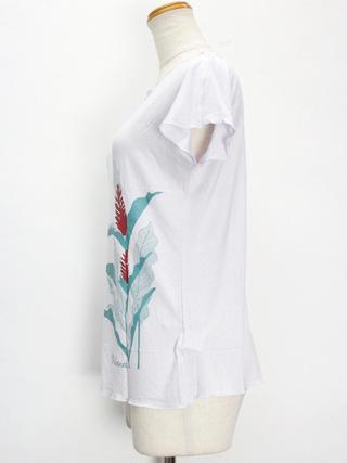PUKANA ノースリーブストレッチTシャツ レフアシェードホワイト