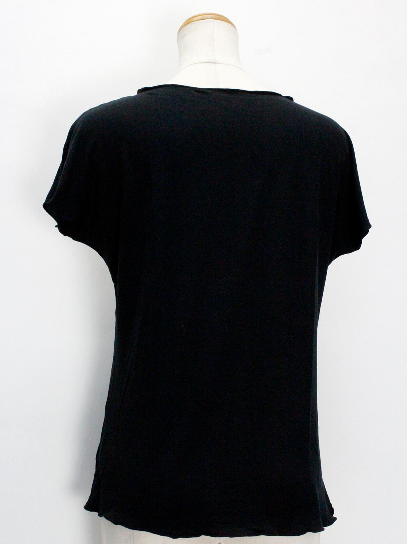 PUKANA ノースリーブストレッチTシャツ レフアシェードブラック