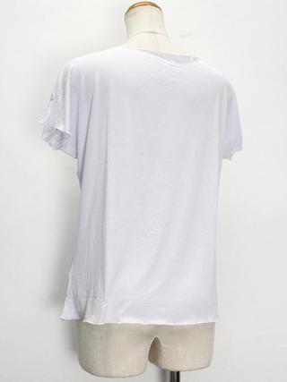 PUKANA ノースリーブストレッチTシャツ ラウアエシェードホワイト