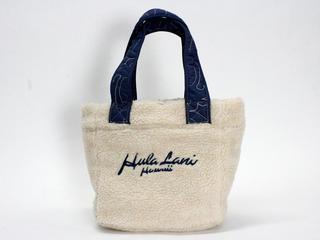 フララニ(Hula Lani)リバーシブルボア柄キルトランチトート ホヌネイビー