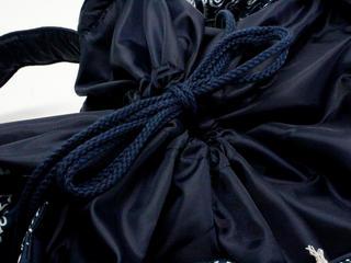 フララニ(Hula Lani)Lサイズトートバッグ ANTIBALパッチワークペイズリー ネイビー
