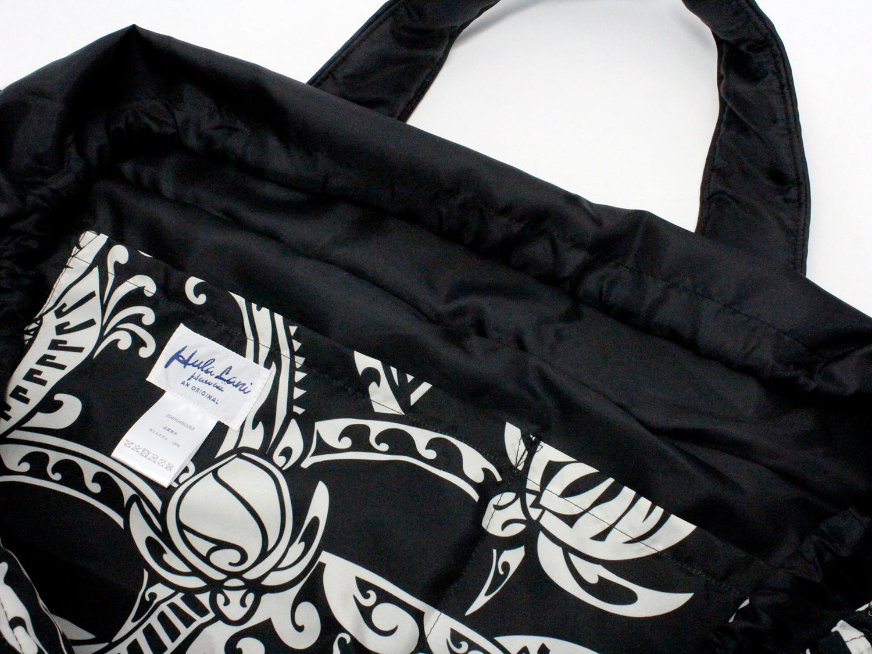 フララニ(Hula Lani)Lサイズトートバッグ フローティングホヌタパ ブラック