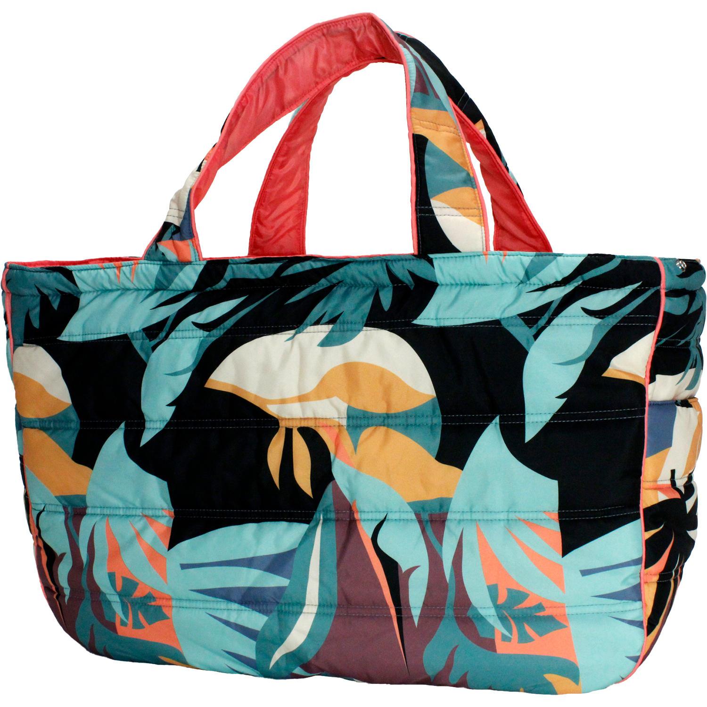 フララニ(Hula Lani)Lサイズトートバッグ ハワイアンボタニカル ブラック