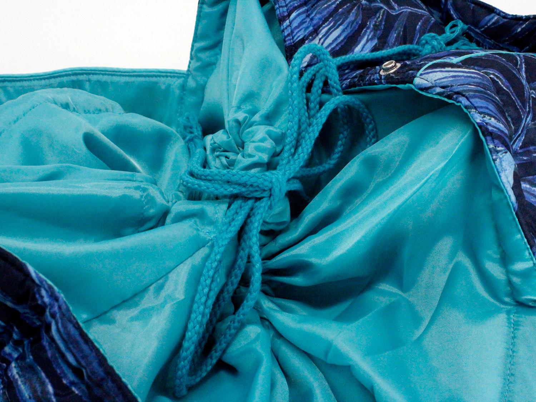 フララニ(Hula Lani)Lサイズトートバッグ ラウアエデザイン ネイビー