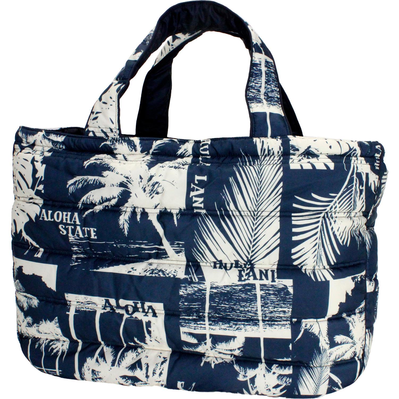 フララニ(Hula Lani)Lサイズトートバッグ アロハビーチフォト ネイビー