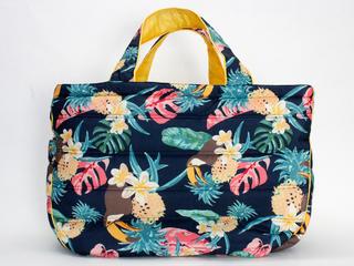 フララニ(Hula Lani)Lサイズトートバッグ ハワイアンパラダイス ネイビー