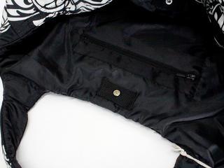 フララニ(Hula Lani)Mサイズトートバッグ フローティングホヌタパ ブラック
