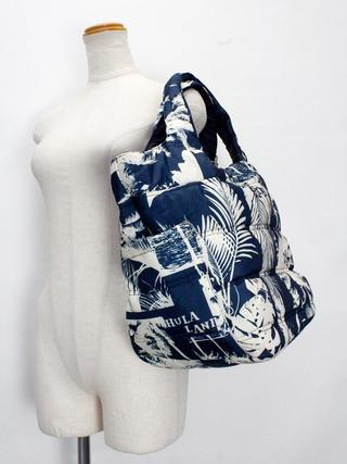フララニ(Hula Lani)Mサイズトートバッグ アロハビーチフォト ネイビー