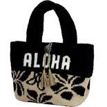 フララニ(Hula Lani)もこもこトートバッグ ブラックベージュ