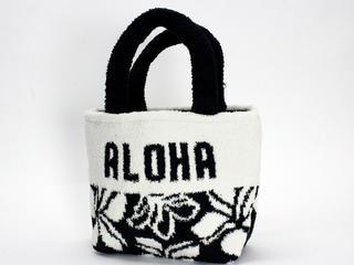フララニ(Hula Lani)もこもこトートバッグ ホワイトブラック