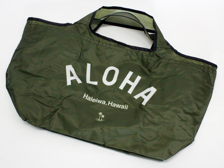 ハレイワ公式(HALEIWA)レジ買い物用カゴバッグ カーキ