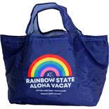 ハレイワ公式(HALEIWA)レジ買い物用カゴバッグ レインボー