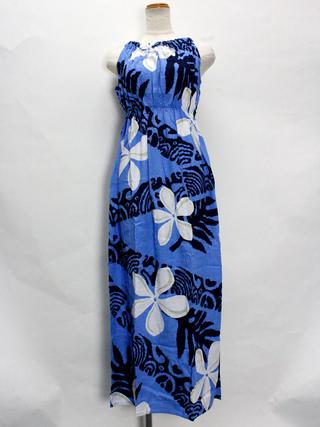 PUKANA バックリボンドレスワンピース プルメリア ブルー