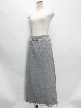 フララニ(Hula Lani HAWAII)空紡糸天竺リバーシブルマキシスカート グレー