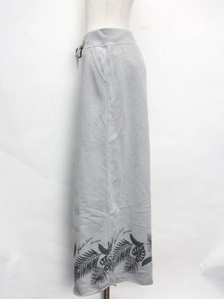 フララニ(Hula Lani HAWAII)裏毛プリントマキシスカート グレー