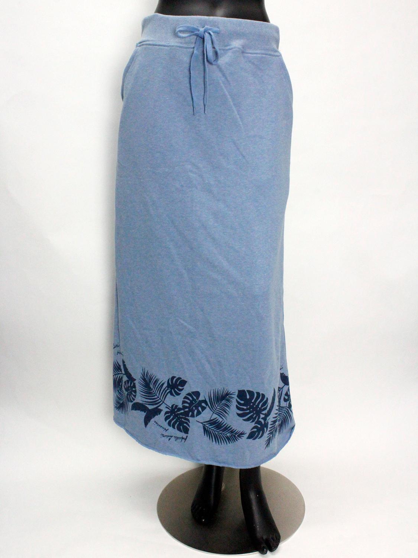 フララニ(Hula Lani HAWAII)裏毛プリントマキシスカート サックスブルー