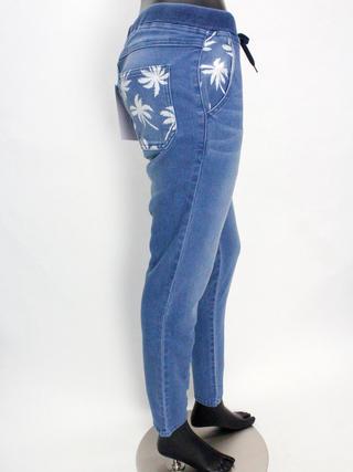 フララニ(Hula Lani HAWAII)ストレッチデニム ロングパンツ ブルー