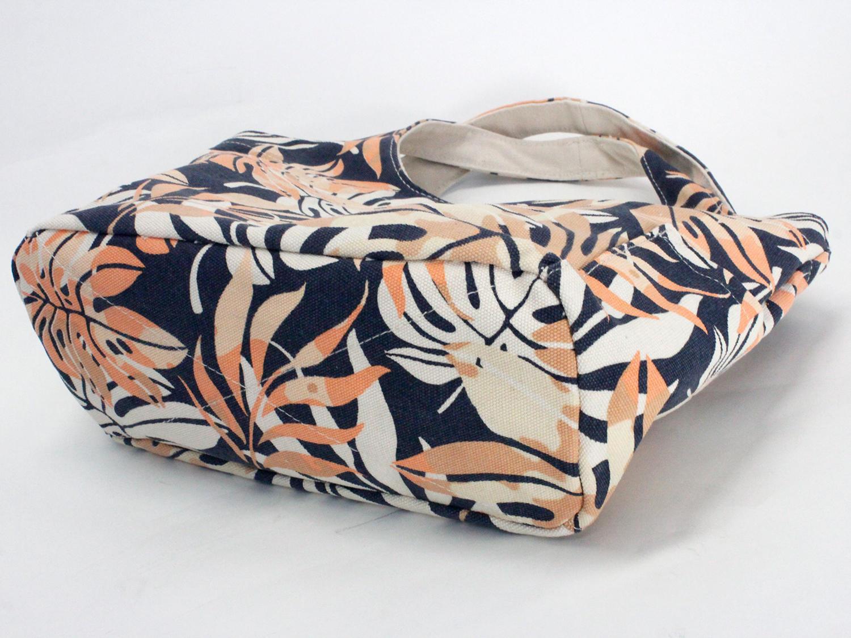 フララニ(Hula Lani)キャンバストートバッグ モンステラグラデーションネイビー
