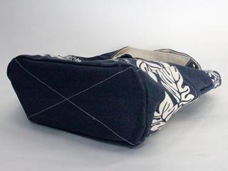 フララニ(Hula Lani)キャンバストートバッグ ブレッドフルーツボーダー ネイビー