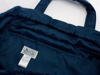 フララニ(Hula Lani)Lサイズトートバッグ 中綿キルトステッチ ホヌネイビー