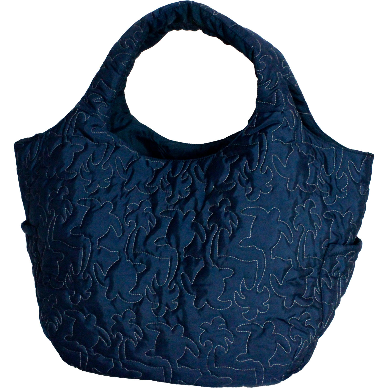 フララニ(Hula Lani)Mサイズトートバッグ 中綿キルトステッチ ホヌネイビー