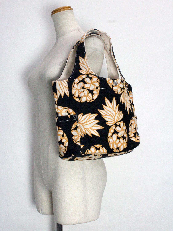 フララニ(Hula Lani)キャンバストートバッグ ハワイアンパイン ブラック