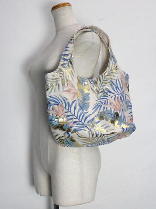フララニ(Hula Lani)キャンバストートバッグ ラウアエエレガント ゴールドブルー