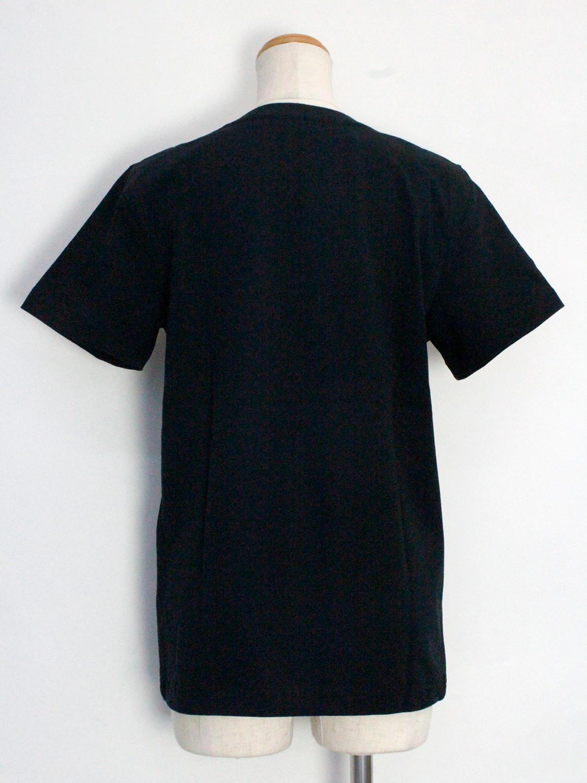 フララニ ミッキー刺繍Tシャツ サングラスミッキー ブラック