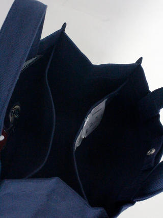 フララニ(Hula Lani)キャンバストートバッグ ディズニーコラボ サガラ&振り刺繍ミッキーマウス ネイビー