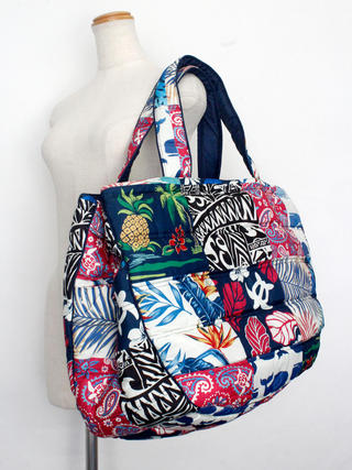 フララニ(Hula Lani)Lサイズトートバッグ ハワイアンマルチデザイン