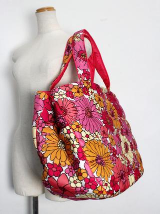 フララニ(Hula Lani)Lサイズトートバッグ フラワーワークピンク
